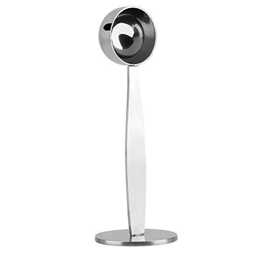 14cm Cuchara café de acero inoxidable con doble función Cuchara de café para medir y apisonar de dos funciones