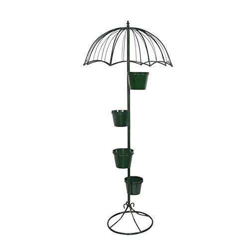 LXDDP Soporte de Flores con Forma de Paraguas con diseño único de Paraguas con Base de Metal sólido