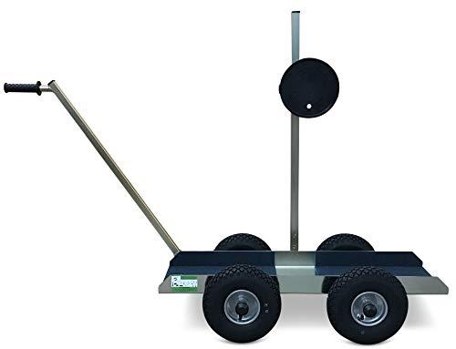 TS 500 Air Tandem Glastransportwagen mit Powr-Grip Vakuum Handsauger bis 500 kg Tragkraft,Transportwagen, Transporthilfe, für Glasscheiben, Holzplatten oder Steinplatten, Sackkarre, Plattenwagen