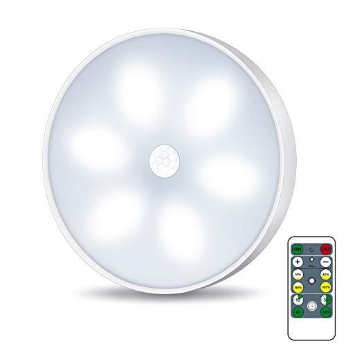 Luce notturna a LED con sensore di movimento, illuminazione a LED per armadio con telecomando, USB ricaricabile con modalità auto/on/off(1 pezzi)