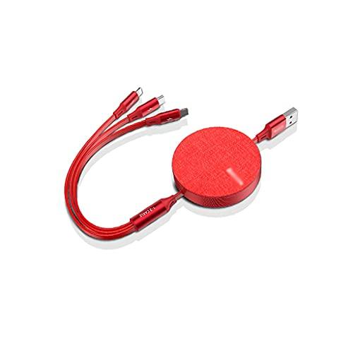 LLRZ Conectores 3 en 1 Cable USB retráctil/Tipo C/Micro USB Cargador Cable...