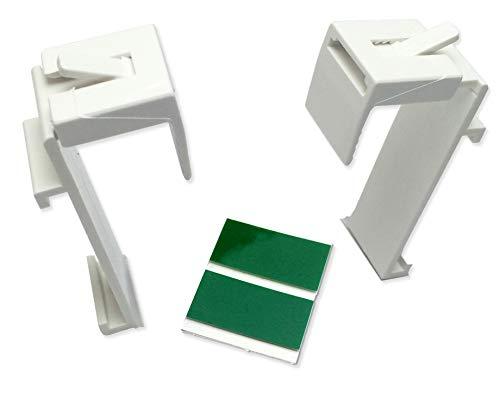 KLEMMFLEX Klemmträger für Duo-Rollo, Rollo, Minirollo, OHNE Bohren, verstellbar von 1,5 bis 2 cm, 1 Paar, inkl. Klebepads