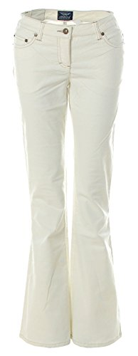 Arizona Cord-Jeans Nicki die farbige Cord-Jeans Schlaghose (Ecru, 36)