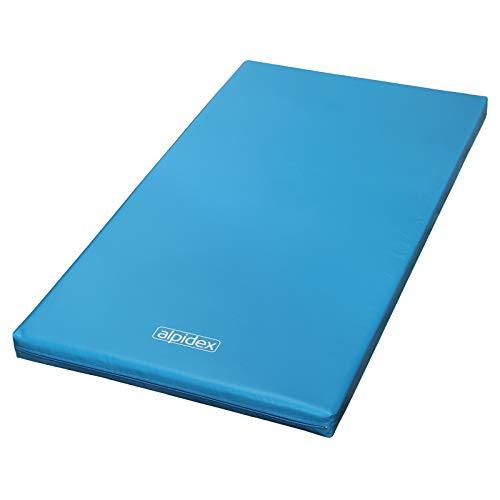 ALPIDEX Materasso 200 x 100 x 8 con Fondo Antiscivolo RG 20 (Molto Morbido), Colore:Blu Chiaro