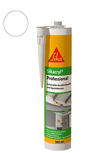 Sikacryl Professional Vielseitiger Acryldichtstoff und Spachtelmasse 300 ml Weiß