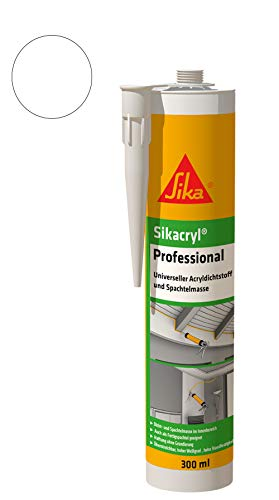 Sika Cryl Professional - Sellador acrílico y masilla (300 ml), color blanco
