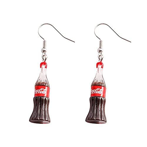XCLWL Pendientes De Gota 3D Femeninos Beber Botella Swing Pendientes para Muy Adecuado para Reuniones De Turismo Deportivo Al Aire Libre, Etc