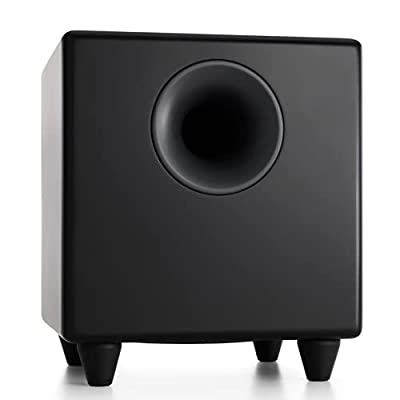 Audioengine S8 250W Powered Subwoofer   Built-in Amplifier   RCA and 3.5mm inputs   Cables included (Black) by Audioengine