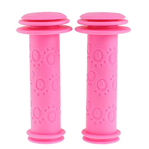 P Prettyia Anti-Rutsch Kinderfahrradgriffe Fahrrad Griffe Kinder Rollergriffe 20mm - Rosa Rot