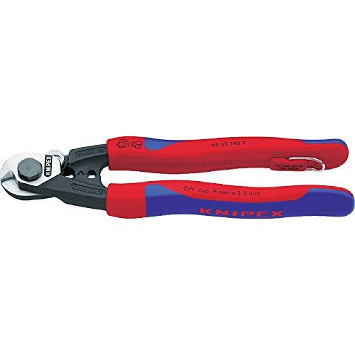 Knipex Drahtseilschere mit Sicherungsöse Länge: 190 mm