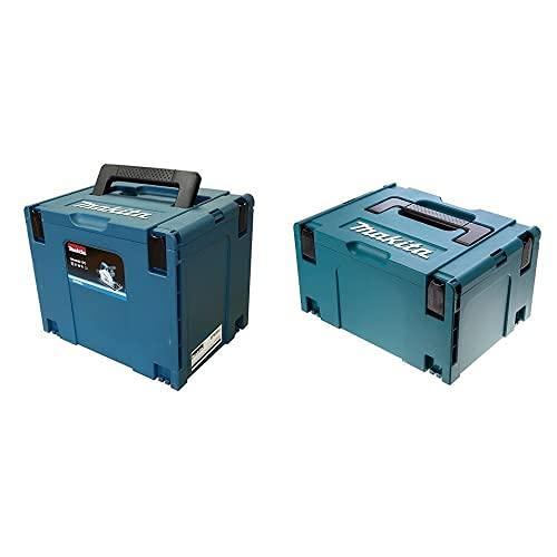Makita 821552-6 821552-6-Maletin Makpac, Nero, Tipo 4 & 821551-8 Valigetta Makpac Tipo 3 210Mm, Blue