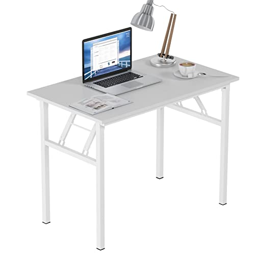 Need Folding Computer Desk 100cm x 60cm Folding Table Compact Table Small Desk for Home office Study Writing Room, AC5DW-100