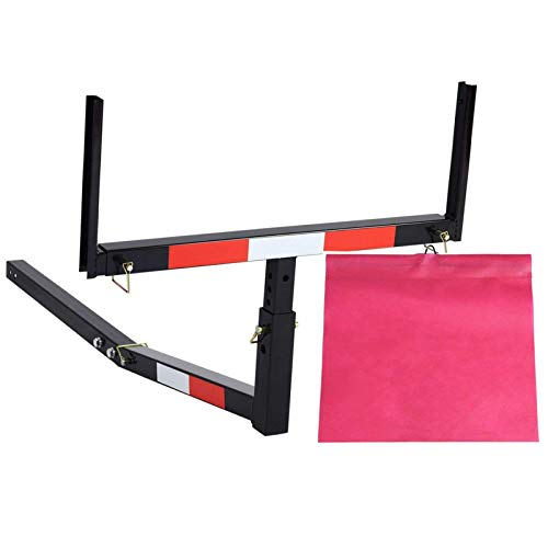 A Zealot Pick Up Truck Bed Extender Adjustable Extension Hitch Rack with Flag for Kayak, Ladder,...