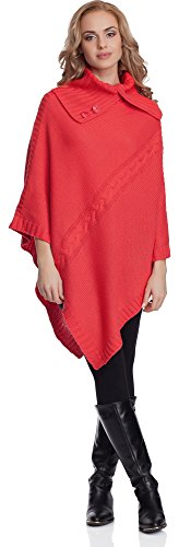 Merry Style Poncho Mujer 2V3T1 (Coralino, One Size)