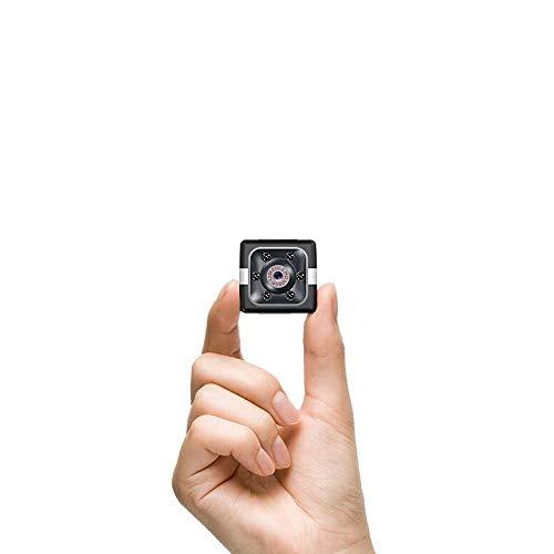 【2020最新型 1080P HD高画質 自動暗視機能 64G SDメモリカード対応】超小型スパイ隠しカメラ 64 G拡張対応 1080P高画質長時間録画/録音監視カメラ 屋外/屋内用 赤外線 動体検知 電池式 ミニ防犯カメラ 配線不要 (黑)