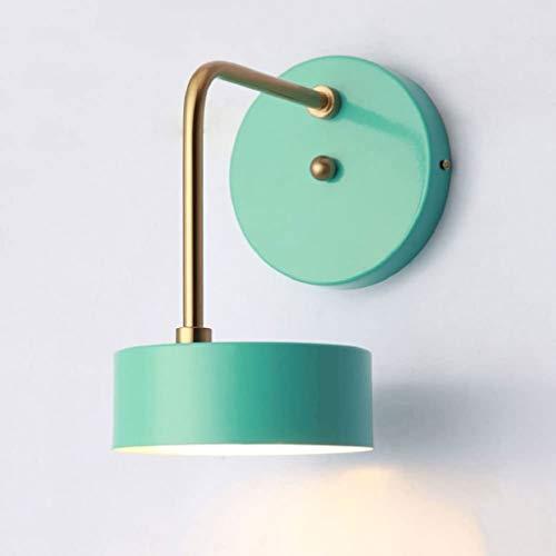 STERB Lampe de Mur en métal Moderne for l'Hôtel Home Corridor Décore Wall Light Vintage Style Sconce Lighting (Color : Green)