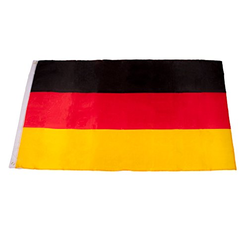 Smartfox Deutschlandfahne Landesfahne Nationalflagge Germany BRD Fanfahne Hissflagge EM WM Fahne Flagge mit Metallösen in 90 x 150 cm