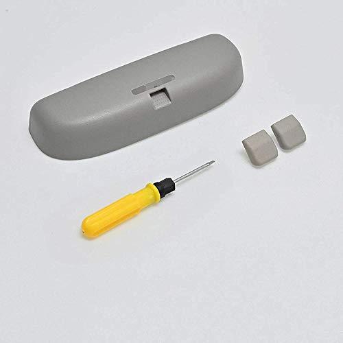 JYRFC Funda para Gafas para Coche Caja de Almacenamiento para Gafas de Sol, para Mitsubishi ASX/RVR, Accesorios para Coche, Caja de Almacenamiento para Gafas de Sol, Gris