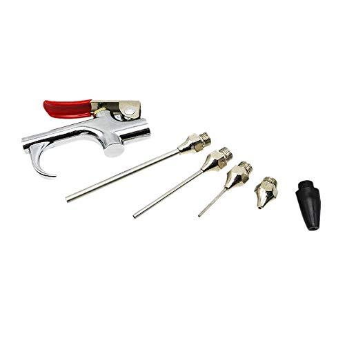 XJF 6 unids compresor de aire comprimido boquilla soplador pistola kit conjunto 1/4 pulgadas