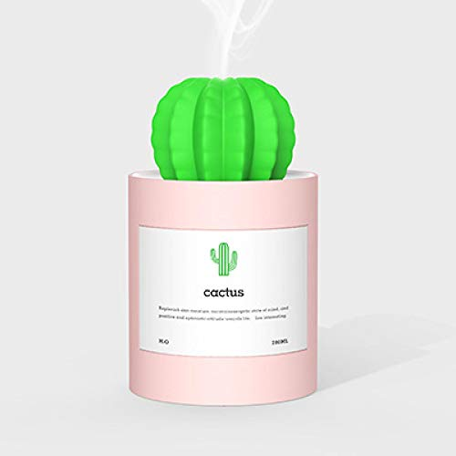 Humidifiers For Bedroom Diffuser Air Purifier Air Humidifier Ultrasonic Humidifiers 280Ml Portable Air Mist Maker Aromatherapy Diffuser Aroma Humidificador For Home Car Pink