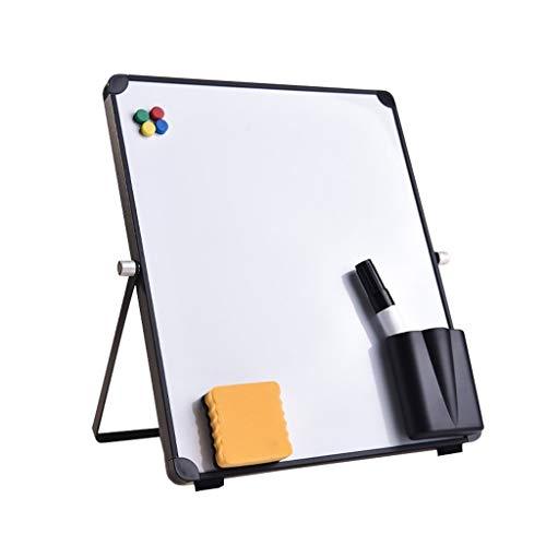 Geen logo ROYAL STAR TY Magnetic Desktop Whiteboard Easel, Droog Wissen Opvouwbaar Tafelblad Wit Board, Draagbaar Whiteboard Herinnering Board