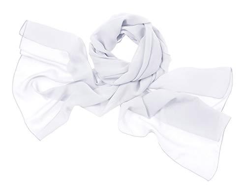 bridesmay Chiffon Stola Schal Scarves für Kleider in Verschiedenen Farben White S