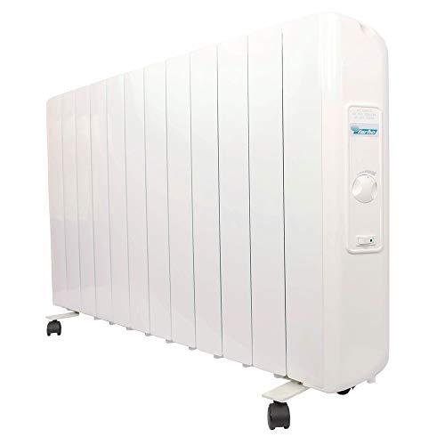 farho radiator elektrisch met laag stroomverbruik 1990 W Eco R Ultra · radiator elektrisch met thermostaat analoog · verwarming, ideaal voor verblijfplaatsen van 22 tot 26 m2 · wielen inclusief