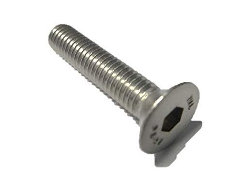 10 Stück Senkkopf Schrauben M4x12 mm - DIN 7991 - A2 Edelstahl - Innensechskant - V2A - Senk - Senkkopfschrauben (10, M4x12 mm)