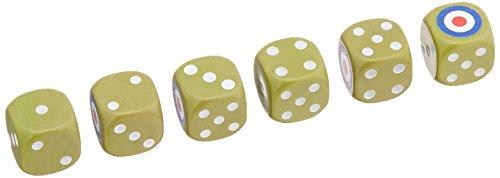 Warehouse Games whg23088 – Réservoir : British Dice Set, 6 Cube