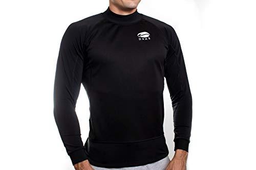 Dras-Camiseta térmica Deportiva Hombre de Manga Larga Invierno para piragüismo, Canoe, Cycling, Ciclismo, Atletismo, Senderismo, Trekking, hípica. (S)