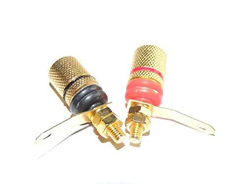 SHENMQ 100PCS Vergulde binding post versterker luidspreker voor 4MM Banaan Plug