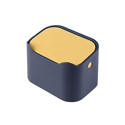IJEOKDHDUW Caja Linda 1pcs Mini Cubo de la Basura del Ministerio del Interior Baño Bote de Basura de Escritorio de Basura Cubo de Basura Tabla Misceláneas del Barril Caja de Almacenamiento papeleras