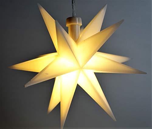 Estrella LED 3D blanca con temporizador.