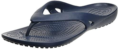 Crocs Kadee II Flip Flops | Sandals for Women, Navy, 7