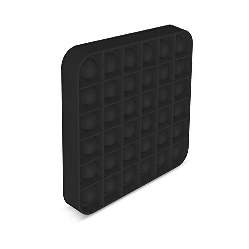 EUROXANTY Juguete sensorial Pop-it   Antiestrés   Juego Entretenimiento   Lavable   Motricidad Fina   12 x 12 cm   Negro