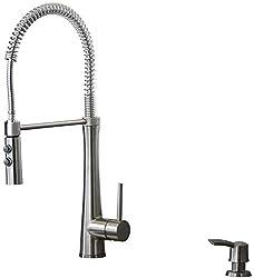 cheap GiagniFresco Stainless Steel Convertible Kitchen Faucet
