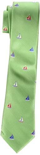 Dockers Neckwear Boys' Big Novelty Fun Print Tie, Green, One Size