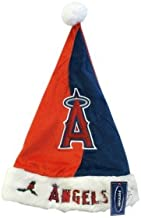 Forever Collectibles MLB Los Angeles Angels Santa Hat, Team Colors, One Size