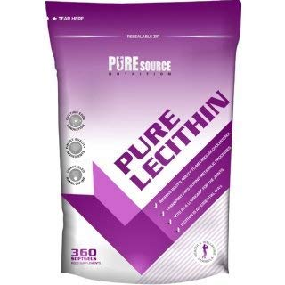 Pure Source Nutrition Pure Lecithin 1200mg 360 Softgel Capsules - High Strength Diet and Weight Loss Supplement UK Made Pharmaceutical Grade