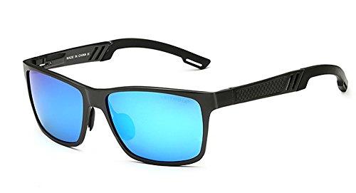 VEITHDIA polarizadas Deportes Gafas de sol de protección UV400para Hombres Mujeres béisbol Running Ciclismo Pesca Golf conducción Unbreakable marco 6560 Azul azul