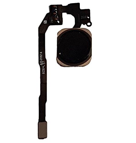 Smartex Tasto Home Nero con Cavo Flessibile Compatibile con iPhone 5S