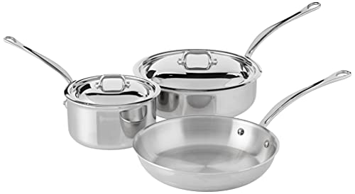 Big Sale Best Cheap Deals Mauviel M'Cook 5210.05 5 Piece Stainless Steel Cookware Set, Cast Stainless Steel Handle