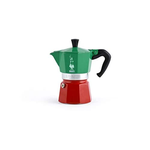 Bialetti Moka Express Italia Collection (Tricolore) Caffettiera, Alluminio, 3 Tazze