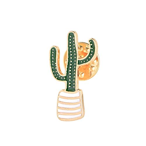 Lovely Badge Plant Potted Collar Shoe Lips Enamel Brooch Coconut Tree Cactus Leaves Decorative Clothing Cartoon Pins Badge-Cactus