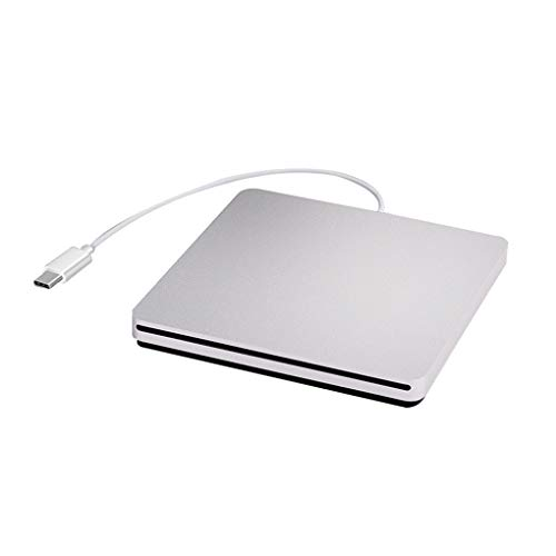 Topke Tipo C-grabadora de CD portátil Tipo CD Writer,Computer DVD Externo de la Unidad óptica de succión USB 2.0 Mobile grabadora de DVD Reproductor
