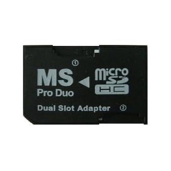 デュアルスロット microSDHC →MS PRO Duo 変換アダプター 最大128GB対応 バルク品 [並行輸入品]