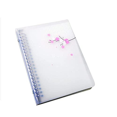 Guomipai Cuaderno Desmontable Espesado cuadrícula Diario Creativo Simple Anillo de Metal Hebilla Hebilla Suelta Hoja de Notas papelería Regalo (60 páginas) (Color : B, Size : 16K)