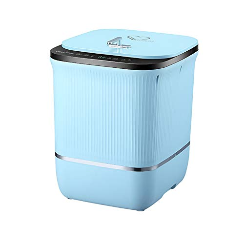 ZnMig Light Washing Machine Mini Baby Washing Machine Washing Machine with High Temperature Cooking and Washing Socks, Underwear and Underwear Underwear Cleaning (Color : Blue, Size : 35x44x40cm)