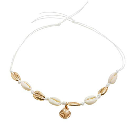 Luckyee Women Fashion Beach Shell Necklace Seashell Necklaces Jewelry Gift for Women Valentine's Birthdays Persents for Girl Friend