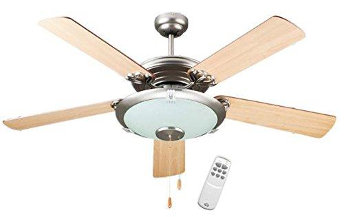 DCG EH-IDJA-KFUU Ventilatore a Soffitto in Legno a Soffitto con Telecomando
